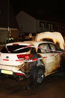 Auto verwoest in Waardenburg door brandstichting of vuurwerkbom