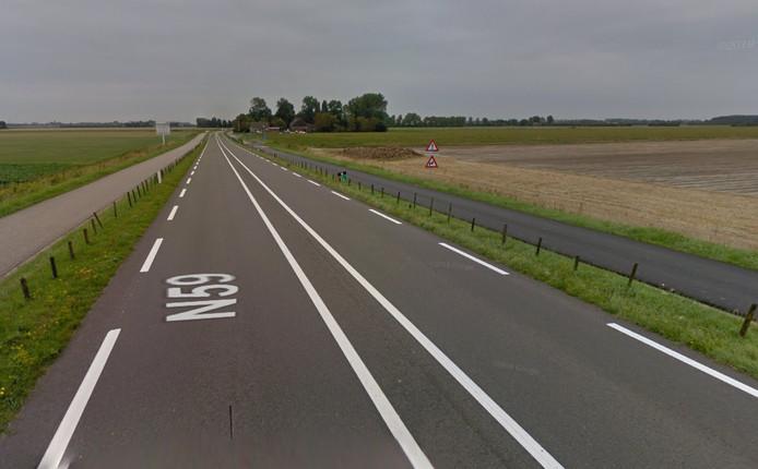 De N59 tussen Goes en Zierikzee