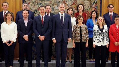 Ministers van nieuwe Spaanse regering leggen eed af: 11 mannen en 11 vrouwen