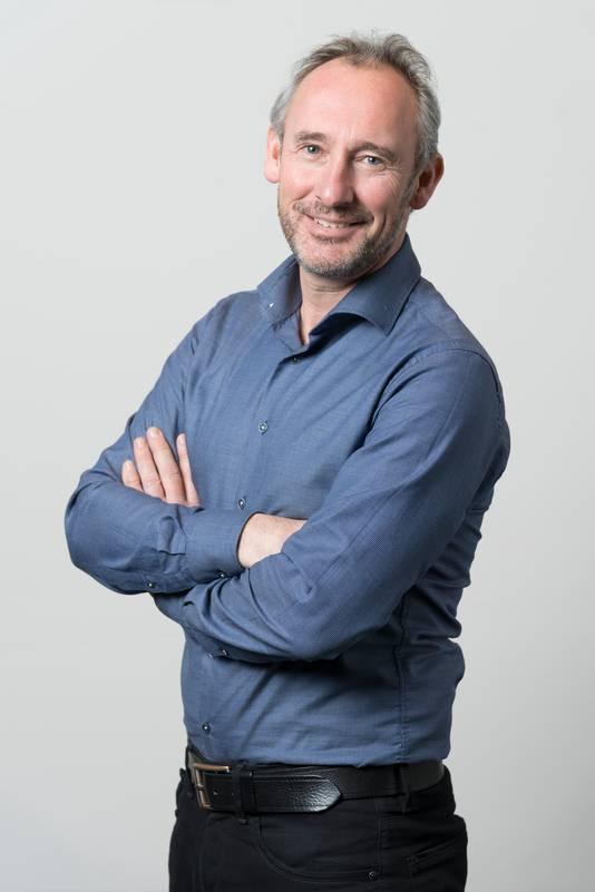 Nederland, Den Bosch, Hoofdredacteur van het brabantsdagblad Lucas van Houtert.