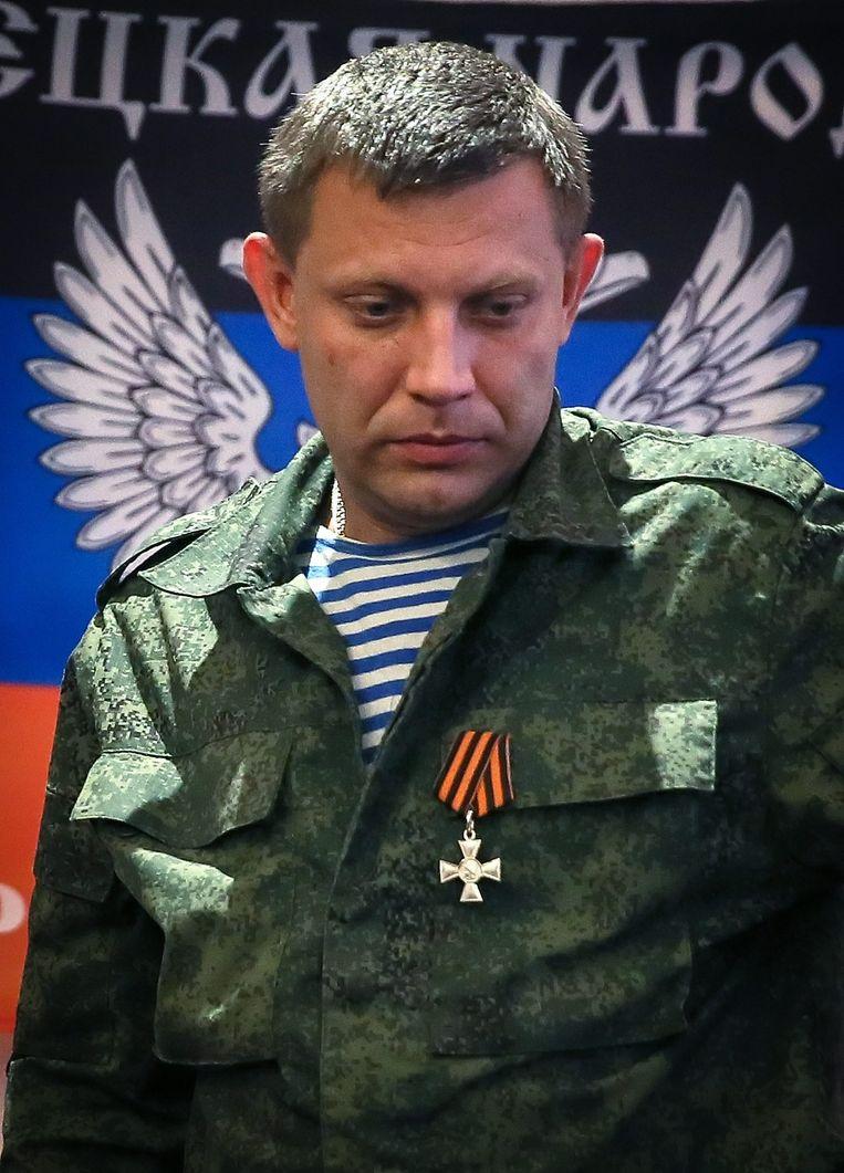 Aleksandr Zachartsjenko, zelfbenoemd premier van de 'Volksrepubliek Donetsk'. Beeld epa