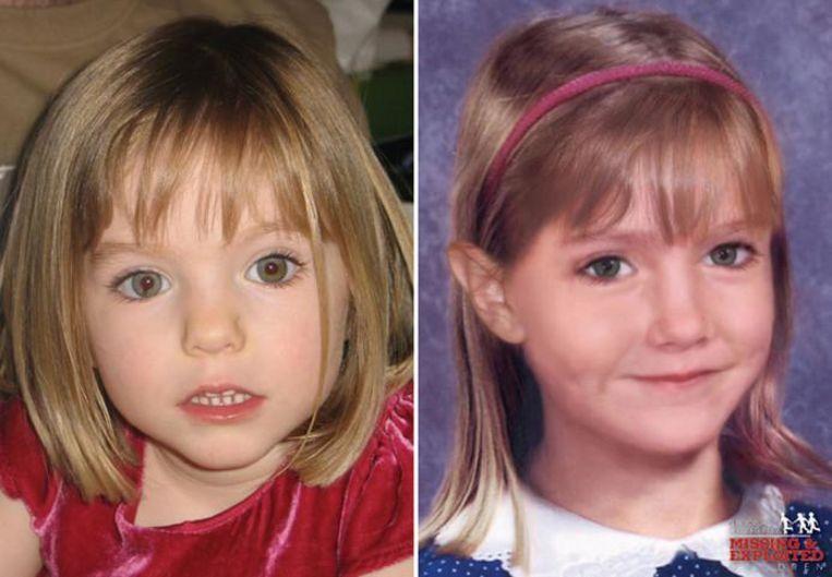 Maddie McCann verdween meer dan tien jaar geleden in Portugal als 3-jarige peuter. De foto ernaast toont haar hoe ze er als 6-jarige uit zou zien. Inmiddels zou ze een tiener zijn.