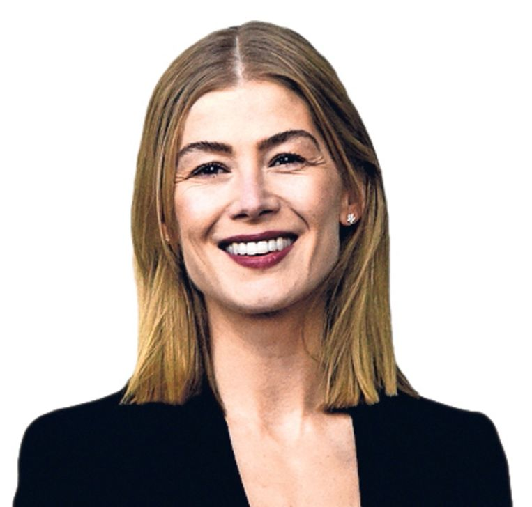 Actrice Rosamund Pike.  Beeld null