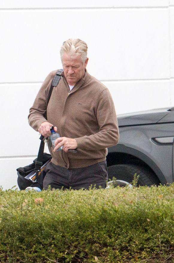 Peter Maes toen hij begin dit seizoen nog trainer was van Lokeren.