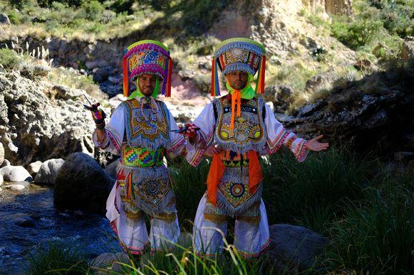 Ish Aït Hamou en Jan Kooijman in Peru