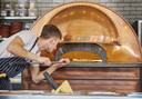 De steenoven van Jamie Oliver's Pizzeria in Arnhem.