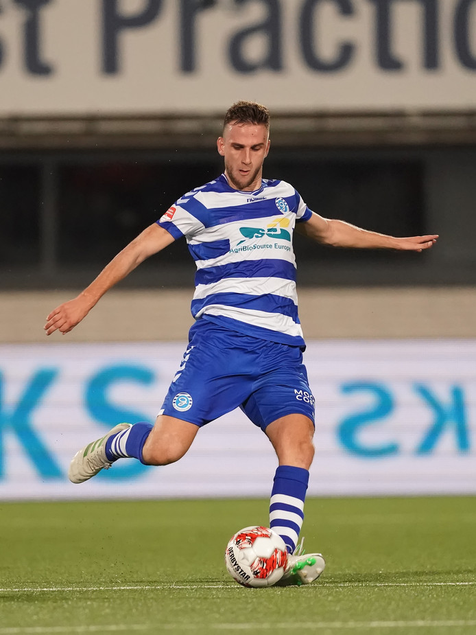 Branco van den Boomen, bij zijn debuut voor De Graafschap tegen TOP Oss.