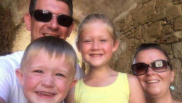 Jeroen, Melissa et leurs deux enfants