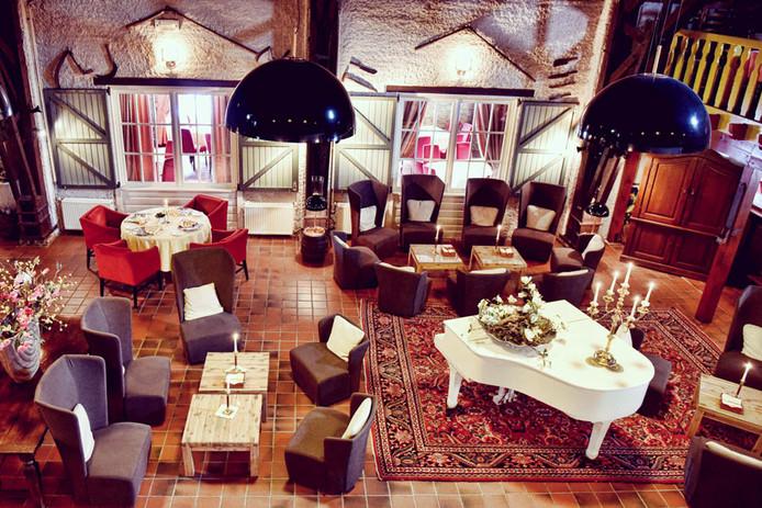 De lounge van De 7 Bergsche Hoeve.