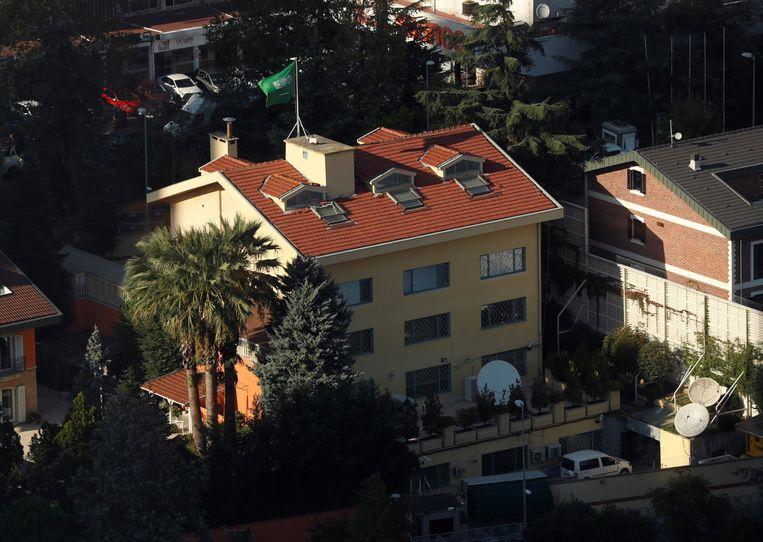 Het Saoedische consulaat in Istanbul. Beeld REUTERS