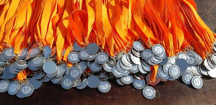 Medailles ontbreken bij de wandelroute die de organisatie van Wandel3daagse Lith als alternatief heeft bedacht.