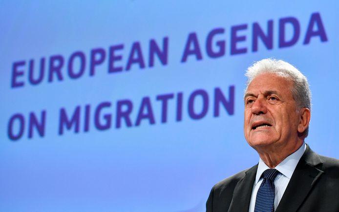 EU-commissaris Dimitris Avramopoulos.