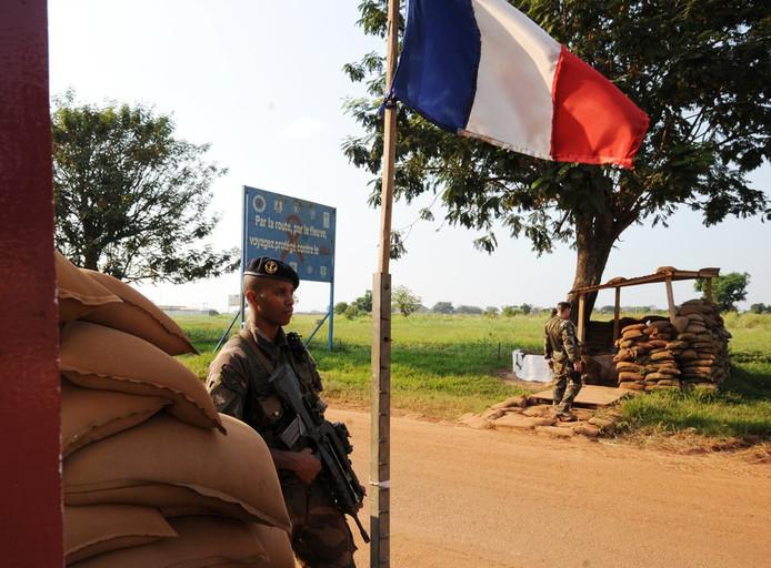 Soldat français à Bangui (Centrafrique)