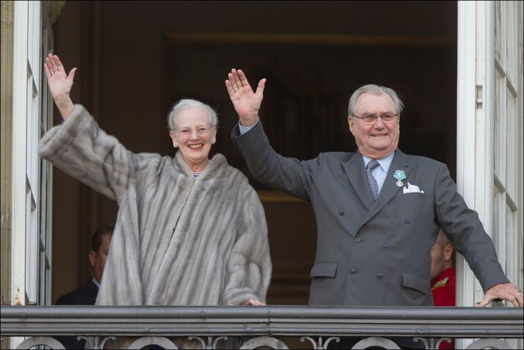 De Deense koningin Margrethe en haar man Henrik in januari 2012.
