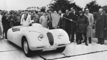 Eerste Jaguar vestigde 70 jaar geleden snelheidsrecord op snelweg in Jabbeke: oldtimerrally zet geschiedenis in de verf