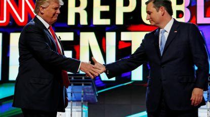 """Activisten vestigen op Republikeinse meeting Texas aandacht op oude tweets van Trump: """"Waarom zouden de mensen in Texas Ted Cruz steunen"""""""