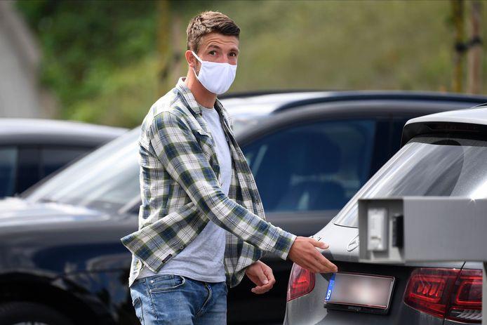 Brandon Mechele bij zijn aankomst bij de Rode Duivels vorige week in Tubeke.
