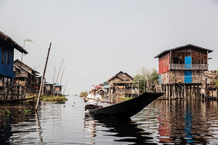 Op het water in Myanmar. Beeld Aurelie Geurts