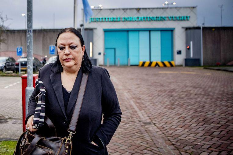 Inez Weski vertrekt bij de Extra Beveiligde Inrichting Vught. Beeld ANP