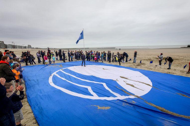 Dit symbool prijkt op de Blue Flag.
