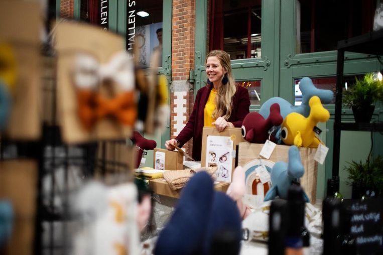 Op de Kids Goodies Markt, die zondag in De Hallen wordt gehouden, kun je terecht voor speelgoed voor de kinderen. Beeld Len Land photography