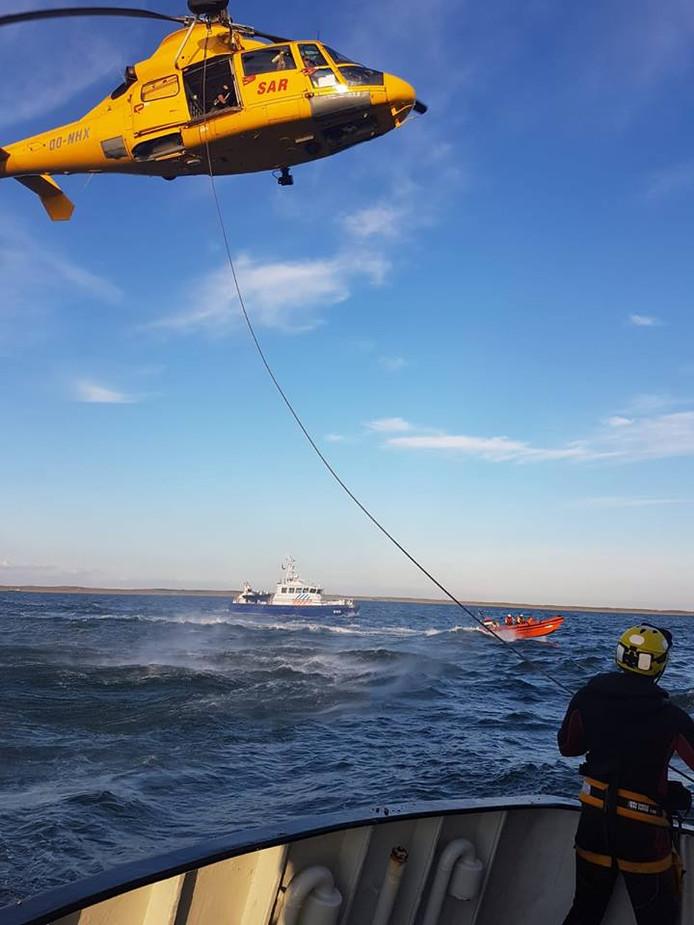Een SAR- helikopter heeft het slachtoffer naar het VUmc in Amsterdam gebracht.