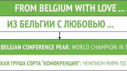 Kijk goed naar de reclameborden tijdens België-Rusland: Limburgse fruittelers hebben gevatte boodschap voor Russen
