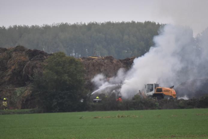 Opnieuw brand bij Groen Recycling Bommelerwaard.