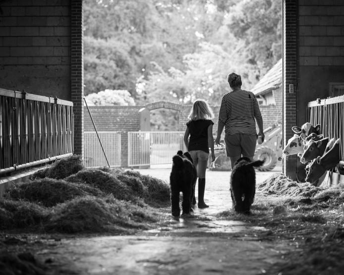 Uit het boek Boerenliefde: Erik van Gulik met zijn jongste dochter.