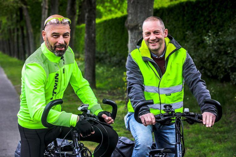 Salvator Cogge en Patrick Malengier fietsen voor het goede doel naar Santiago de Compostela.