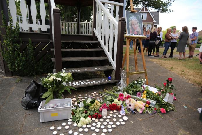 Inwoners van Hoevelaken herdenken de omgekomen Romy