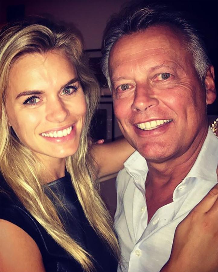 Nicolette van Dam met haar vader.