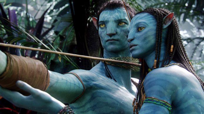 Neytiri en Jake in Avatar.
