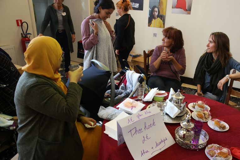 Er werd ook een Marokkaanse theehoek ingericht.