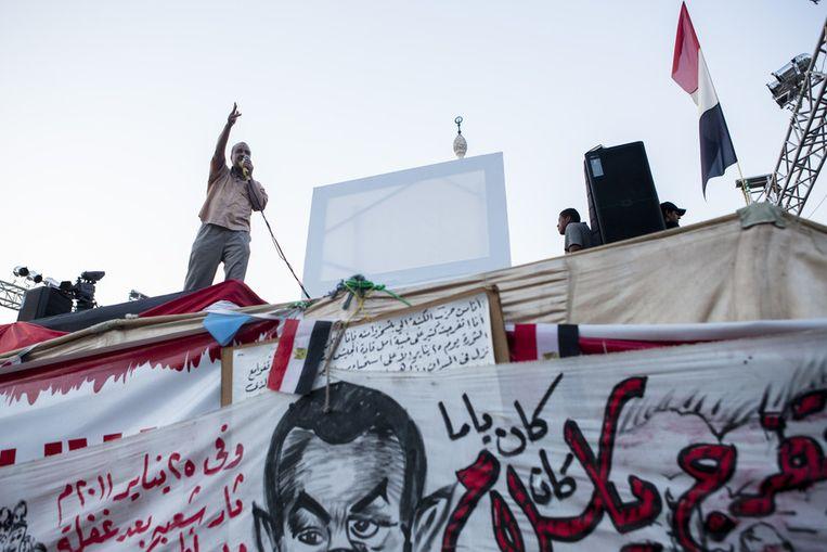 Mohammed el-Beltagy, eerder vandaag. Beeld getty