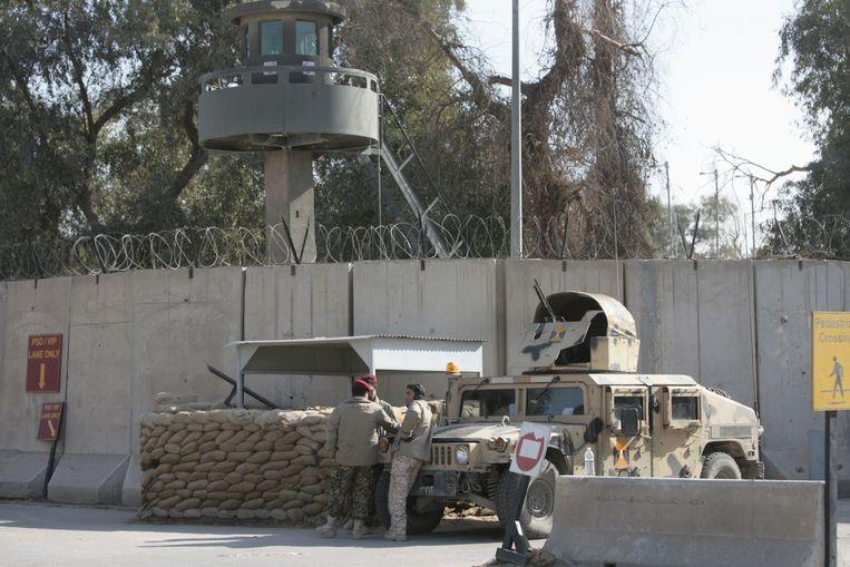 De Groene Zone in Bagdad. Beeld AFP