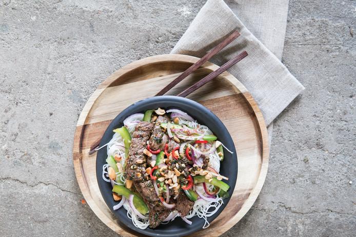 Thaise rundvleessalade met mihoen