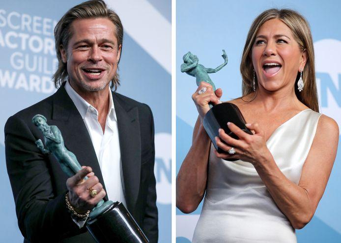 """Brad Pitt a remporté le trophée du meilleur acteur pour sa performance dans """"Once Upon a Time... in Hollywood"""" et Jennifer Aniston a été récompensée pour son rôle dans """"The Morning Show""""."""