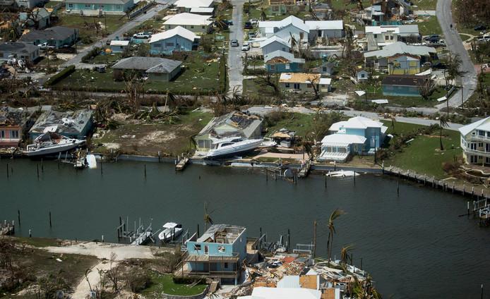 Het eiland Abaco, één van de Bahama's die bekend staat om zijn havens, golfbanen en all-inclusive resorts, na de verwoestende storm