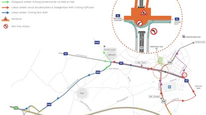 Aanleg definitieve rotonde boven ringtunnel start op 15 januari