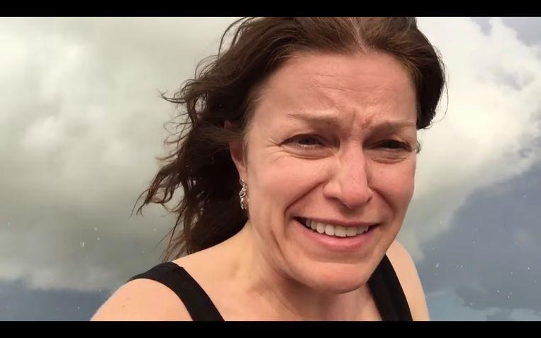 Peeters op tornadojacht in de VS, in 2015. Tegen een avontuurlijk uitstapje weg van haar dagelijkse weerkaart zei ze nooit nee.