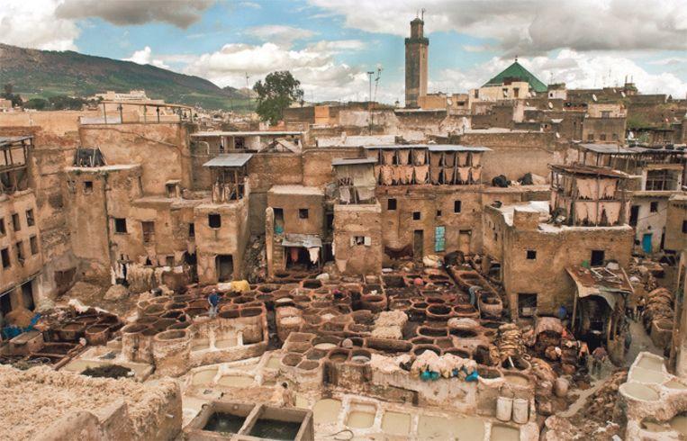 De markt in het middeleeuwse centrum van Fes heeft voor elk wat wils, van koperen potten tot kamelenvlees.