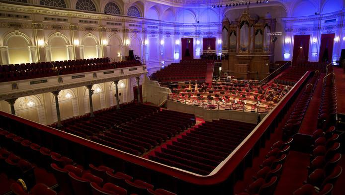 De grote zaal van het Concertgebouw.