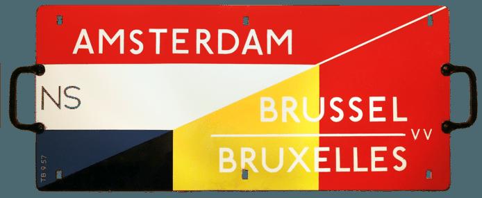 1957. Begin internationale dienstregeling Amsterdam-Brussel VV.