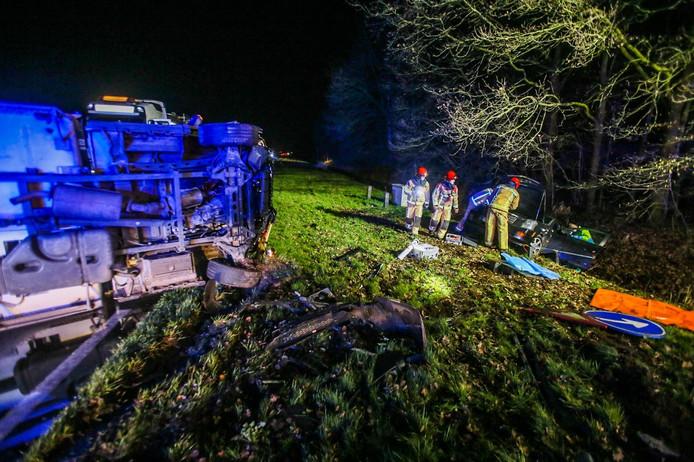 Ernstig ongeluk op N279 bij Asten.