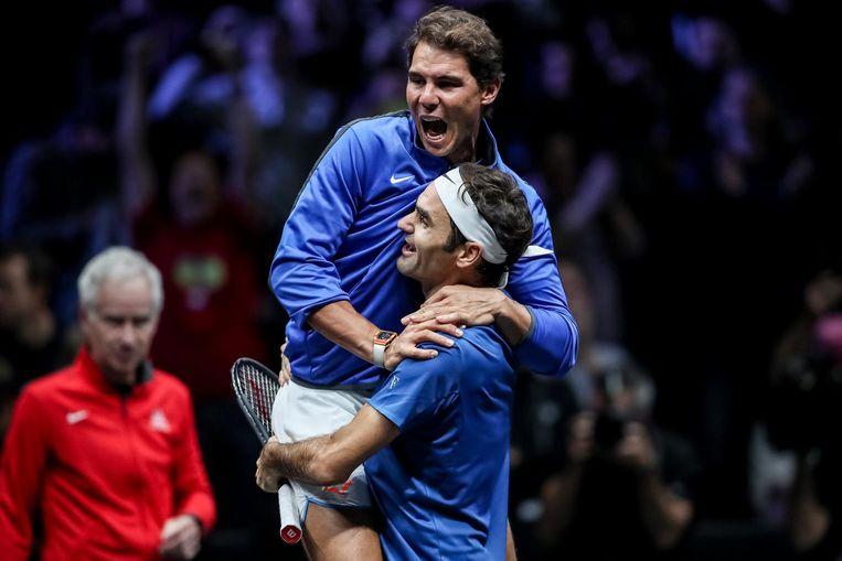 Rafael Nadal en Roger Federer. Beeld epa