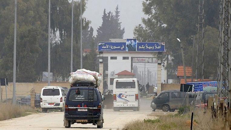 De grens tussen Syrië en Libanon in de al-Qaa-regio. Beeld ANP