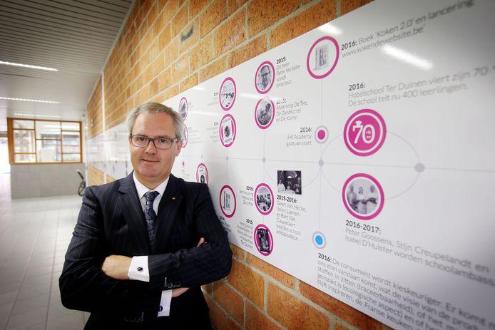 Directeur Peter Verbeke van hotelschool Ter Duinen