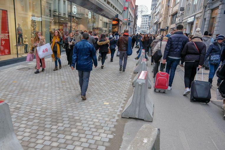 Werken in de Nieuwstraat liggen even stil.