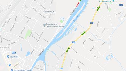 Scheldekant aan Lotharingenbrug in Oudenaarde twee dagen afgesloten voor dringende herstelling aan hoogspanningskabel